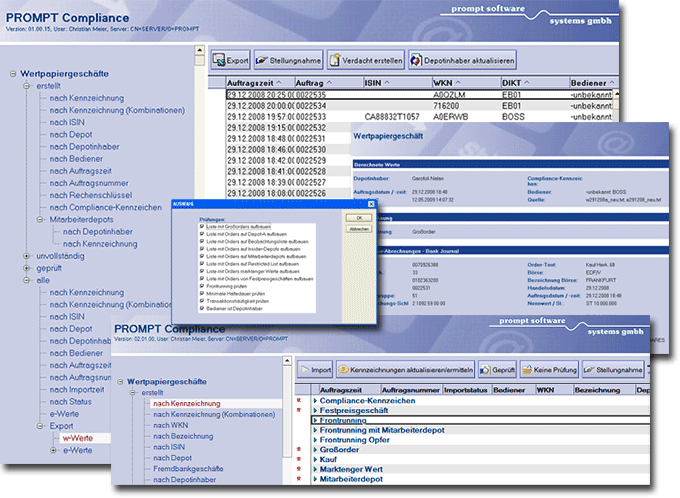 Lotus Notes Datenbank PROMPT Compliance